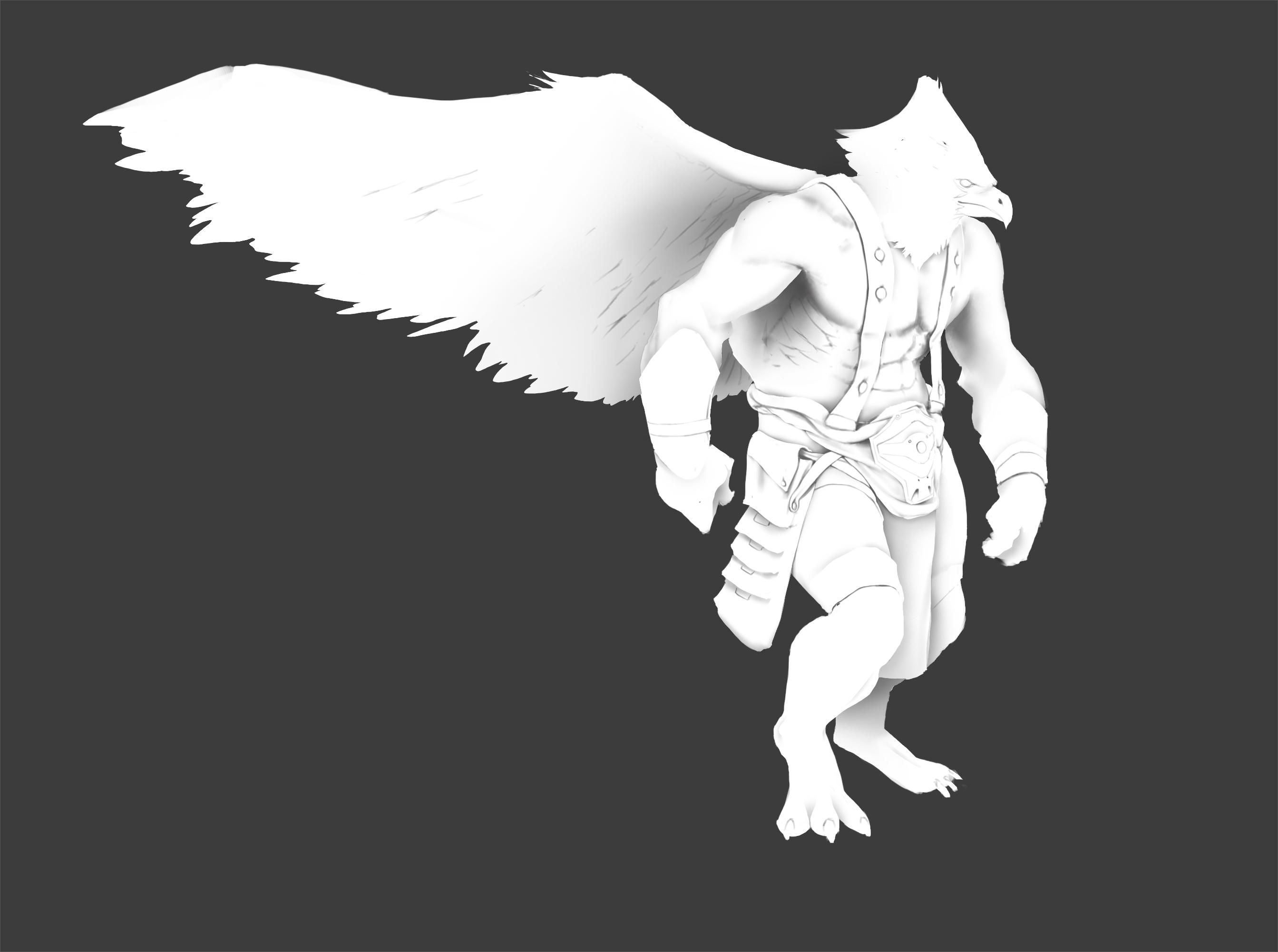 Dessiner les ombres sur un personnage