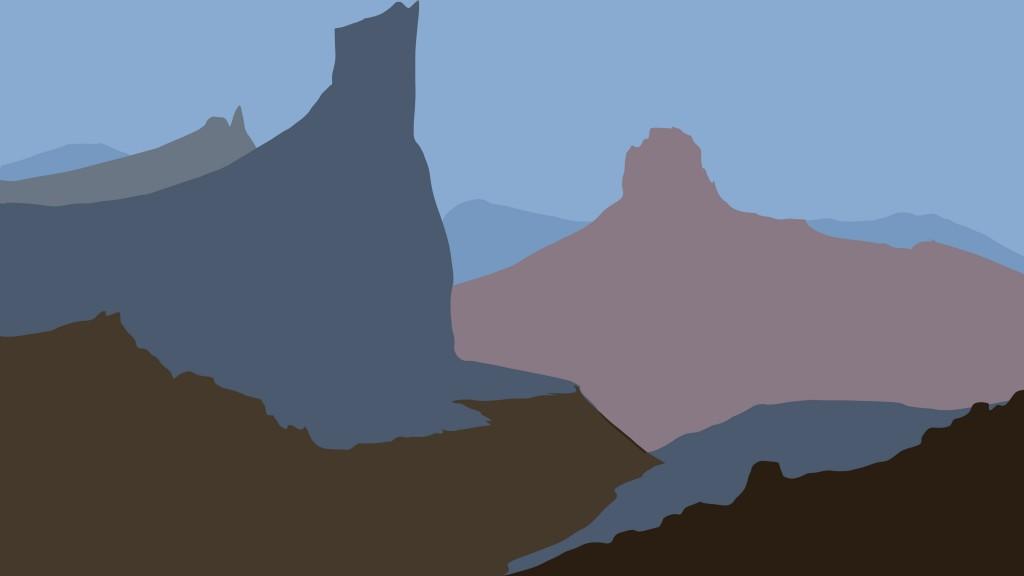 Simplifier un dessin de montagne