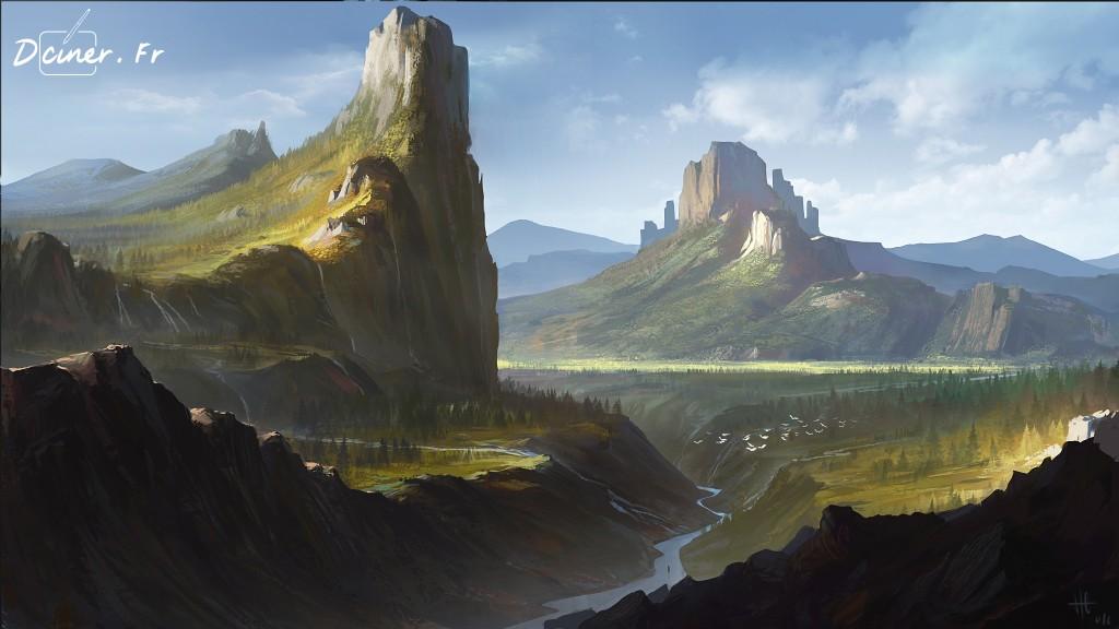Peindre un paysage de montagne