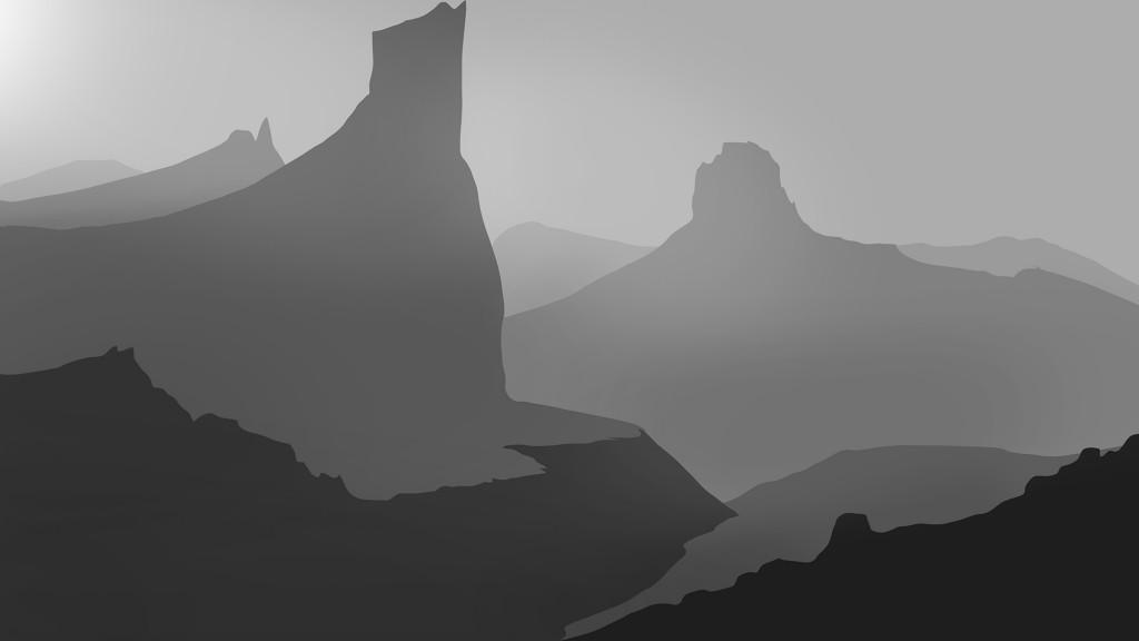 Dessiner un paysage de montagne