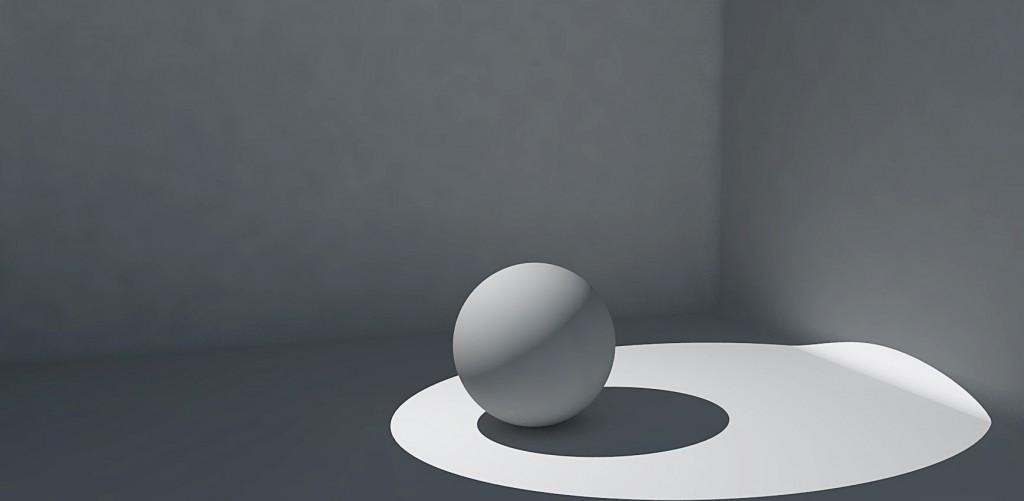 Eclairage directe en dessin