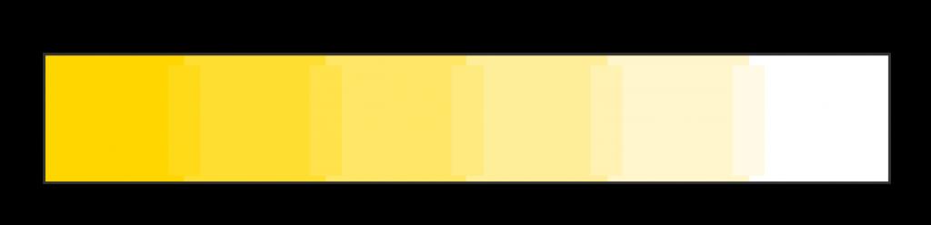 Echelle de saturation d'une couleur