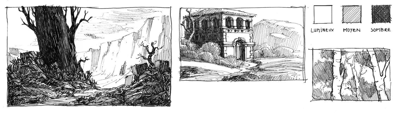 Utilisez les contrastes pour affirmer vos dessins apprendre dessiner - Modele dessin personnage ...