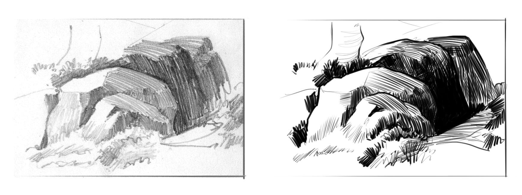 Utilisez les contrastes pour affirmer vos dessins apprendre dessiner - Dessin anime de corneil et bernie ...